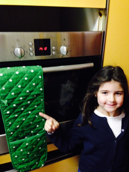 Matilda´s quest. Star on the oven cloth